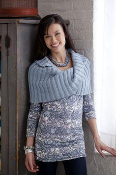 Caron® Simply Soft® Moebius Wrap #knit #pattern