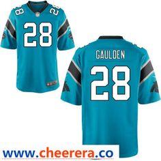 Men s Carolina Panthers  28 Rashaan Gaulden Light Blue Alternate Stitched NFL  Nike Game Jersey d0b332928