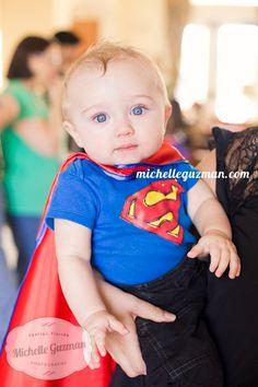super hero birthday party -Orlando Event Photographer :: Kid Birthday Party Photography - Decor Idea http://michelleguzman.com Superman Baby - Super man