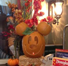 Mickey Mouse carved pumpkin. #mickeymouse #disney #halloween