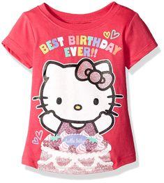 555d0c1a2 Hello Kitty Little Girls' Toddler Happy Birthday T-Shirt, Fuchsia Purple,  Gorgeous Hello Kitty happy birthday tee shirt with sugar and sparkle  glitter ...