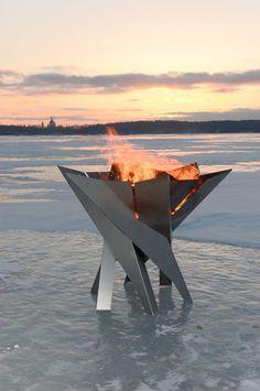 Steel Fire Pit PHOENIX FLOWER - Contemporary Design by Arpe Studio