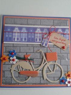 Verjaardagskaart met fiets en bloemen op pakjesdrager... Birthday Cards, Happy Birthday, Bicycle Cards, Travel Cards, Bike Wheel, Die Cut Cards, Marianne Design, Masculine Cards, Diy Cards