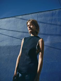 """Constance Jablonski in """"Blues: The Denim Trend"""" by Annemarieke van Drimmelen for WSJ Magazine, February 2015"""