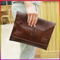 PU leather clutch men messenger envelope clutch bag men male ...
