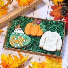 Likes, 74 Comments - Andi K. Fall Decorated Cookies, Fall Cookies, Cut Out Cookies, Iced Cookies, Royal Icing Cookies, Holiday Cookies, Cupcake Cookies, Sugar Cookies, Crazy Cookies