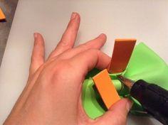 Pajaritas de goma eva para el photocall