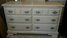 #vintagefurniture #paintedfurniture #shabbychic #custompainting #frenchprovincial dresser bureau bedroom chest