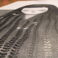 #secret #workinprogress ... little sneak peek of a new work. #seaweed #girl #graphite