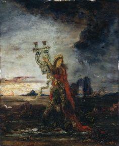 Moreau, Gustave (Paris, 06/04/1826 - Paris, 18/04/1898) 1891, Arion ; Orphée