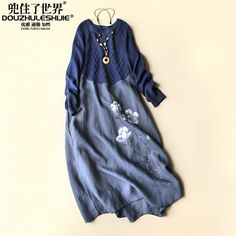 Find More Dresses Information about New arrival fashion 2015 autumn women's clothing boutique literature and art cotton and linen one piece dress,High Quality clothing bins,China clothing Suppliers, Cheap clothing ross from Blooming Season-Original Design on Aliexpress.com