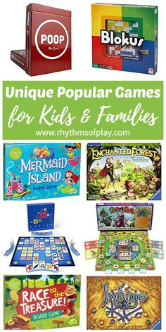This list is filled with the best board games, card games, and dice games for family game night for two to multiple players. This collection of unique popular board games for kids and adults of all ages make a great gift idea for Christmas and Birthdays. Families with preschool aged kids to teens will be able to find a new fun game to try on this list.