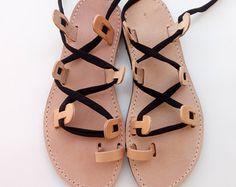 sandalias de cuero sandalias griegas hechas a mano sandalias