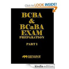 BCBA & BCaBA Exam Preparation Part 1. $8.99