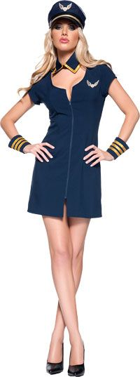Halloween costumes 2015 and its the year for retro stewardess and captain uniforms. Sure to be the best costume of the year, just like the hit show Pan Am where you will fly the friendly skies. Police Halloween Costumes, Diy Baby Costumes, Halloween Outfits, Cool Costumes, Adult Costumes, Pilot Costumes, Halloween 2016, Stewardess Costume, Sexy Costumes For Women