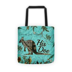 His Doe Kangaroo Camouflage Tote bag