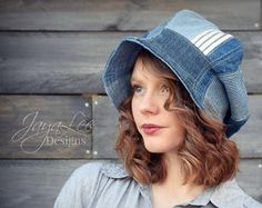 Bucket Hat Patchwork Denim Hippie Cloche Hat