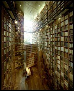 Shiba Ryotaro Memorial Museum Library, by Tadao Ando