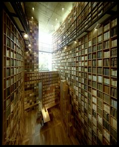 Shiba Ryotaro Memorial Museum Library (Osaka, Japan)