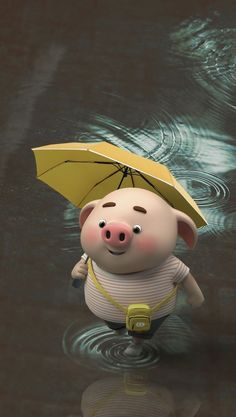 Pig 🍭 Pig Wallpaper, Cute Disney Wallpaper, Cute Cartoon Wallpapers, Cute Piglets, Pig Illustration, Illustrations, Funny Pigs, Baby Pigs, Little Pigs
