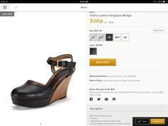 Marni Vitello Leather Slingback Wedge