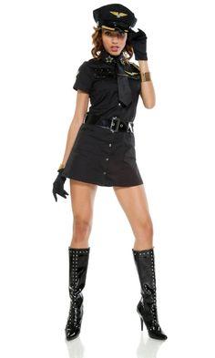 パイロットコスチュームコスプレ衣装-RR20152-0 Cop Halloween Costume, Cop Costume, Gold Armband, Police Uniforms, Costume Accessories, Costumes For Women, Neue Trends, Nice Tops, Fancy Dress