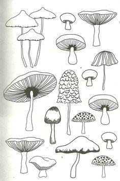 Doodle Drawings, Art Drawings Sketches, Easy Drawings, Doodle Art, Mushroom Drawing, Mushroom Art, Arte Sketchbook, Flower Doodles, Hippie Art