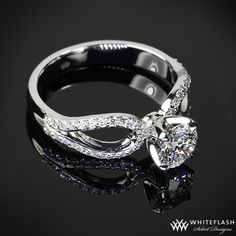 exquisite white gold infinity diamond engagement ring