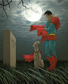 Superman  Krypto by Frank Quitely  ♥ ♥ Please feel free to repin ♥♥  http://unocollectibles.com