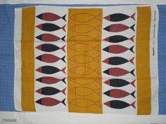 Tampella, dec KALA, design AUNE LAUKKANEN, vintage Modern Patterns, Finland, Industrial Design, Print Design, Retro Vintage, Cotton Fabric, Towel, Textiles, Quilts