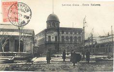 Şimdiki Dokuz Eylül Ün. Rektörlük Binası'nın olduğu yerdeki İtalyan Kız Okulu