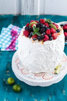 Fresh Watermelon Cake with Summer Berries | halfbakedharvest.com