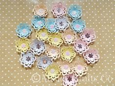 Large Floral Card Making Scrapbook Embellishments Paper Flower Craft Supplies