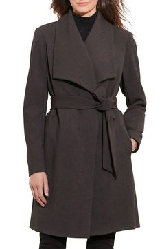 New Markdown on this GORGEOUS Lauren #RalphLauren Belted Drape Front Coat available at #Nordstrom WAS $230.00 NOW $159.00