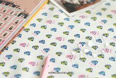 Diamond fabric Diamond pattern 150cmx90cm Waterproof by KoreaBacol