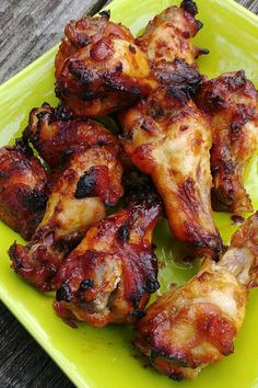 Teriyaki Chicken Wings, Baked Chicken Wings, Chicken Wing Recipes, Tandoori Chicken, Chicken Thighs, Butter Chicken, Garlic Butter, Cooking Recipes, Drink Recipes