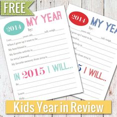 ....and Spiritually Speaking: Year In Review for Kids - FREE PRINTABLE
