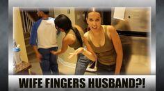 Wife fingers husbands ass