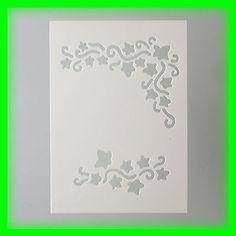 Stencil / Flex- Schablone - Efeu - DIN A5 - 2 teilig - Scrapbooking