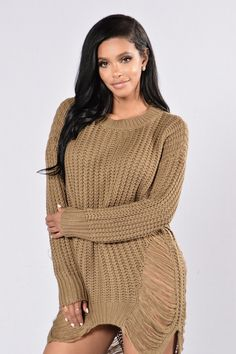Unraveled Sweater - Olive
