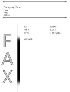 The Top Of This Printable Fax Cover Sheet Is Accented With