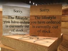 """Sorry. The Lifestyle You Have Ordered Is Currently Out Of Stock. - Reclaimed Wall Art 6""""x6"""""""