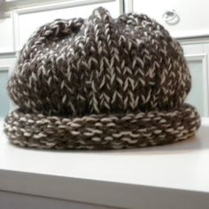 Knitted Slouchy Wool Cloche Hat Chunky Adult by iaFlowerPower, $25.00