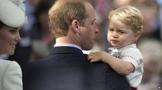 Princess Charlotte's Christening - Prince George, Prince William and the Duchess of Cambridge - 5th July 2015