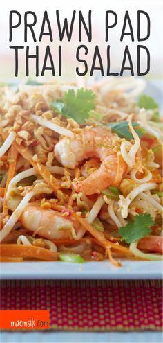Pumpkin soup with chestnuts and foie gras - Recipe Guide Pad Thai Salad Recipe, Thai Prawn Salad, Best Pad Thai Recipe, Thai Salads, Thai Prawn Recipes, Healthy Thai Recipes, Thai Chicken Recipes, Vegan Recipes Easy