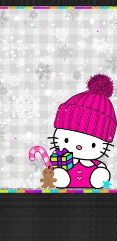 Walpaper Hello Kitty, Hello Kitty Art, Hello Kitty Wallpaper, Hello Kitty Pictures, Kitty Images, Apple Logo Wallpaper, Free Iphone Wallpaper, Pink Wallpaper Girly, Hello Kitty Christmas