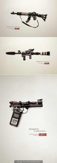 Publicidad creativa - CJFE - La información es munición
