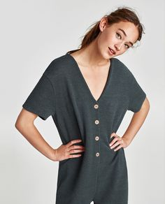 Image 2 of JUMPSUIT WITH BUTTONS from Zara