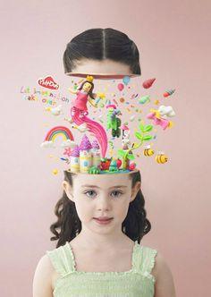 "Interesting Play-Doh marketing. ""Let imagination take over""."