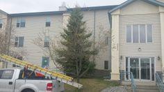 PVC Flat Roof Inspection. Bragg Creek, Pvc Roofing, Red Deer, Roof Repair, Flat Roof, Condominium, Calgary, June, Outdoor Decor